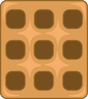 A square waffle to be enjoyed with whipped cream or syrup as a d