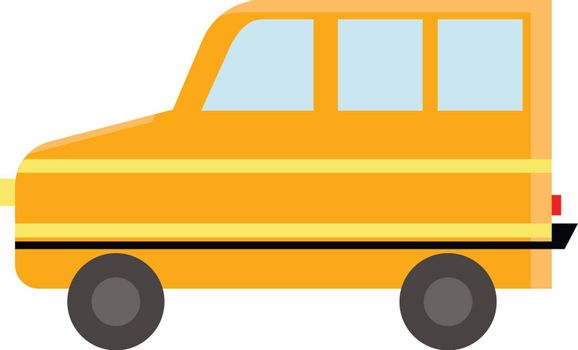 A yellow transportation bus vector or color illustration