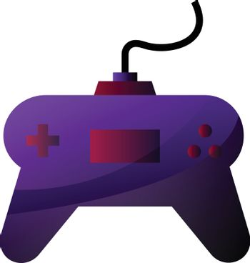 Vector illustration of a purple gamepad on a white background