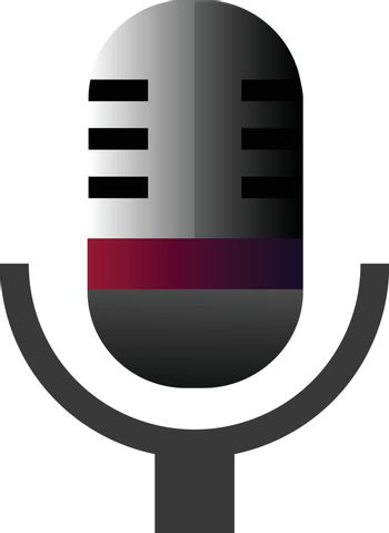 Retro microphone vector illustration on a white background