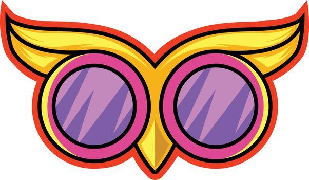 Owl goggles illustration vector on white background