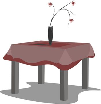 A neat table vector or color illustration