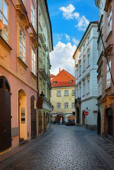 Old street of Prague