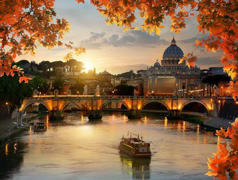 Autumn evening and Vatican