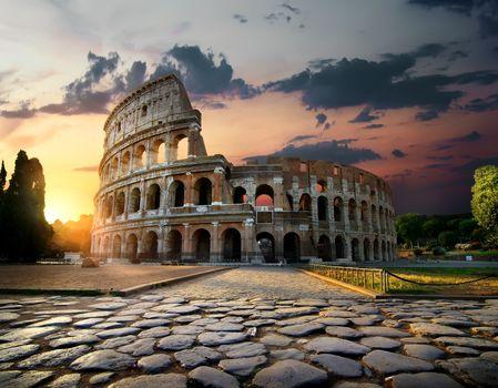 Sunlight on Colosseum
