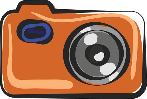 Painting of a camera vector or color illustration