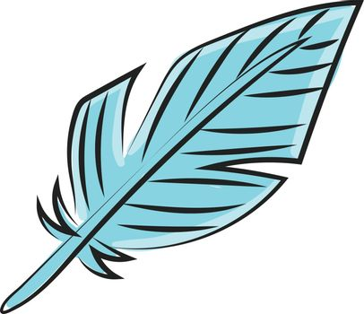 Clipart of a blue-colored quill vector or color illustration