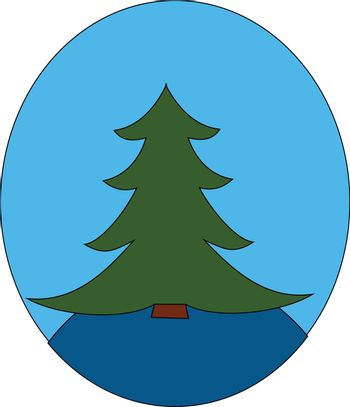 A spruce tree/Xmas tree vector or color illustration