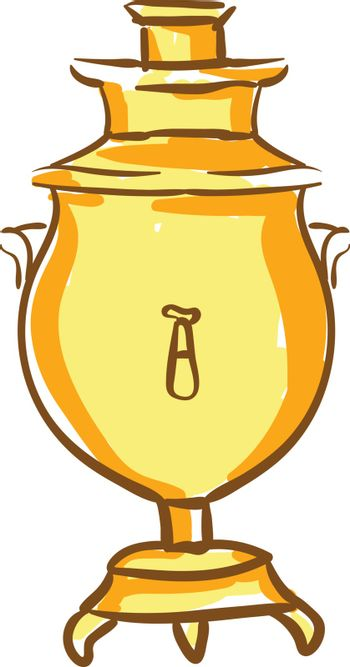 Clipart of an oval-shaped Russian samovar vector or color illust