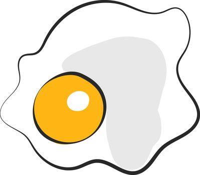 Cartoon scrambled eggs vector or color illustration