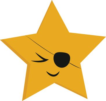 Emoji of a five pointed yellow star vector or color illustration