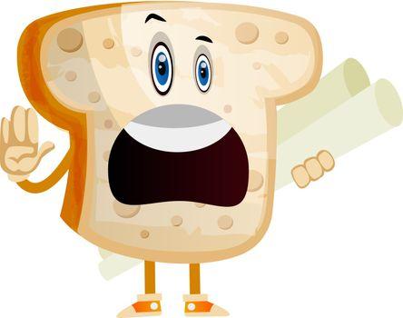 Employed bread illustration vector on white background