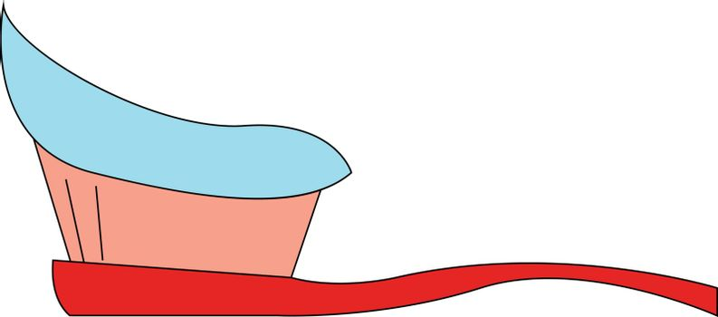 Toothbrush hand drawn design, illustration, vector on white background.