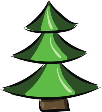Image of ale (Christmas Tree), vector or color illustration.