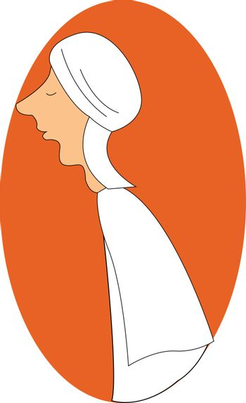 Image of Arab, vector or color illustration.