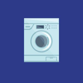 Washing machine, vector or color illustration.