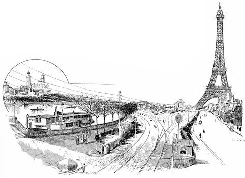 Gare du Champ de Mars or Champ de Mars – Tour Eiffel, vintage