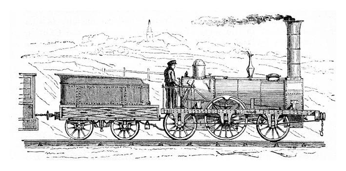 Railway accidents, vintage engraved illustration.