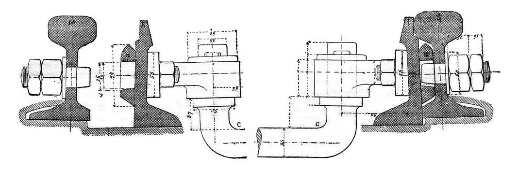 Cross-section of a needle, vintage engraved illustration. Industrial encyclopedia E.-O. Lami - 1875.