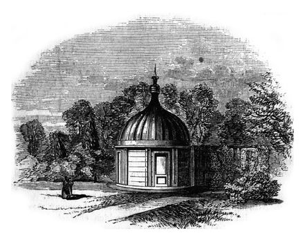 Mr. Bishop's observatory, Regent Park, Memorable by the discover