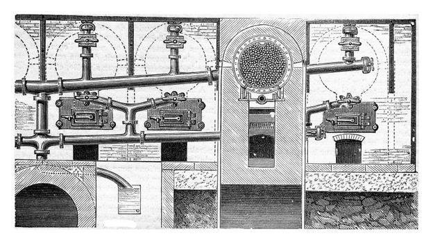 Moving cylinder distillation apparatus used in gunpowder for coa
