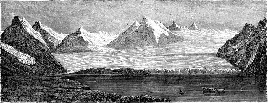 English bay. vintage engraved illustration. Le Tour du Monde, Travel Journal, (1865).