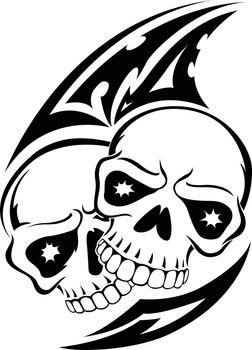 Bird Skull Engraving Vector Illustration Bird Stock Vector (Royalty Free)  1622917624