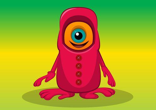 One-eyed Creature, illustration