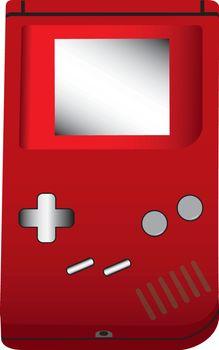 Handheld game illustration