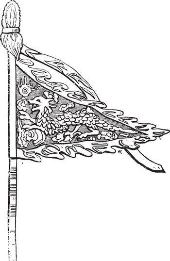 The figure above represents a small banner which in the Chinese