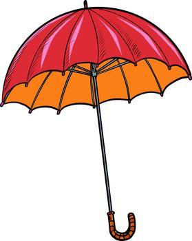 red umbrella. autumn accessory