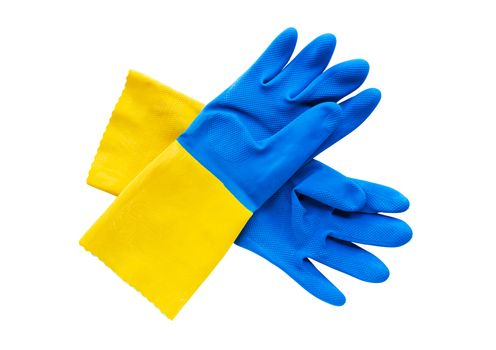 Protective plastic gloves