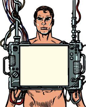 medical examination of men, internal organ scan screen tool