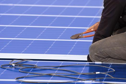 Wiring harness, solar system installation