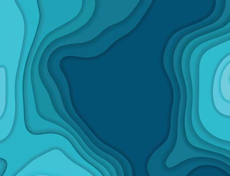 Vector paper cut background. Abstract origami wave design