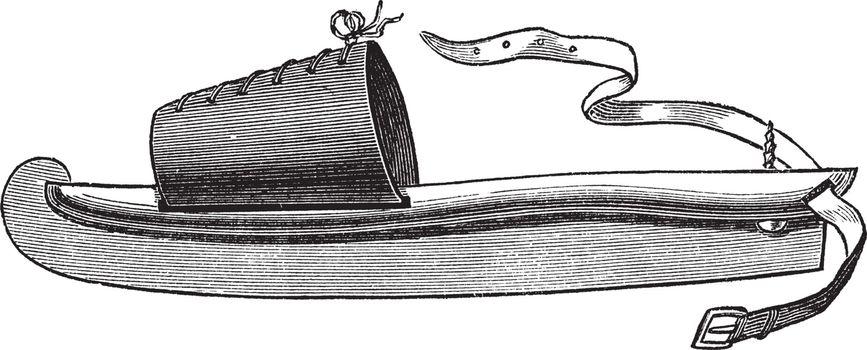 Skate vintage engraving