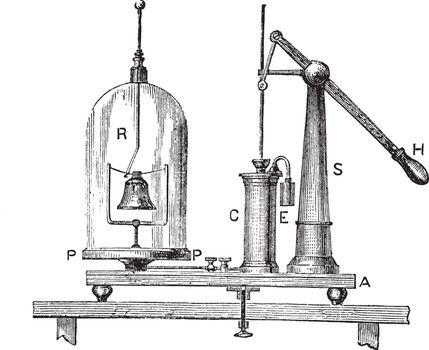 Simple Pneumatic Machine, vintage engraving