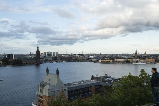 The panorama of Stockholm