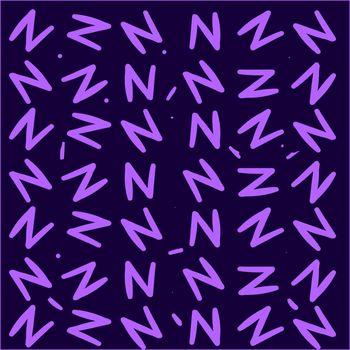 Letter N wallpaper, illustration, vector on white background.