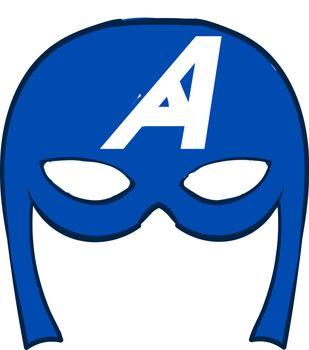 Captain America mask, illustration, vector on white background.