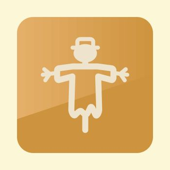 Scarecrow flat vector icon