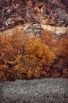 Autumn season in the mountains