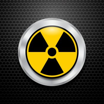 Ionizing Radiation Sign. Radioactive contamination symbol. Warning Danger Hazard
