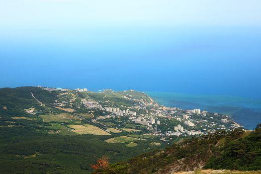 View from Ai-Petri Mountain to Gaspra