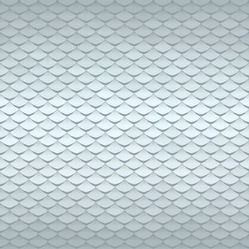 Abstract scale pattern. Roof tiles background. Silver squama texture