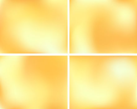 Yellow abstract background with light spots. Honey color. Bright golden holiday space. Festive season design. New Year, Christmas, wedding event style
