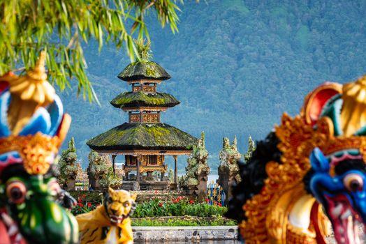 Ulun Danu Beratan temple smallest shrine in Bali, Indonesia