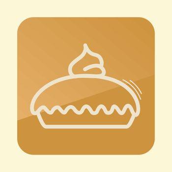 Thanksgiving Pie icon. Harvest. Thanksgiving