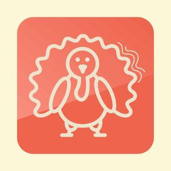Turkey outline icon. Harvest. Thanksgiving vector illustration, eps 10