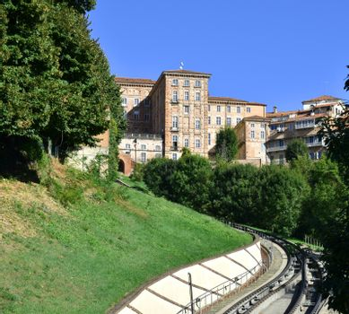 Mondovi Piazza with railways